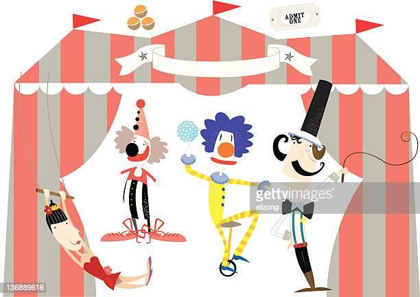 Ville, des acrobates de cirque