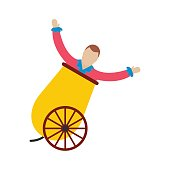 Circus man in cannon icon