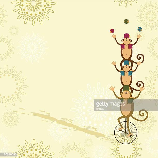 Circus Affen jonglieren