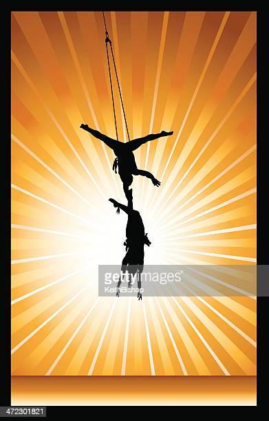 Artiste de cirque, des acrobates arrière-plan