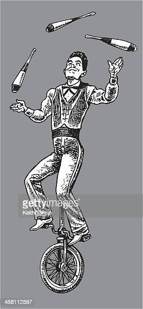 circus performer - juggler - juggling stock illustrations, clip art, cartoons, & icons