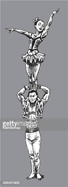 Des musiciens, des acrobates de cirque
