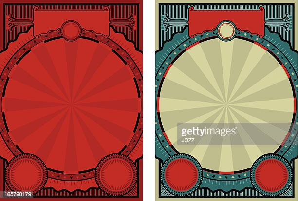 circus poster - poster stock illustrations
