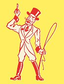 Circus Ringleader Pointing Up