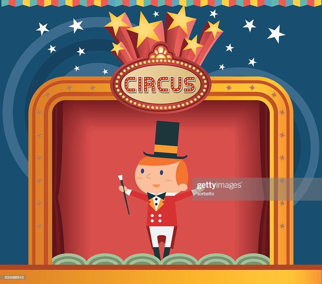 Circus Ringmaster : stock illustration