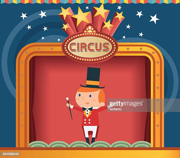 circus ringmaster - magician stock illustrations, clip art, cartoons, & icons