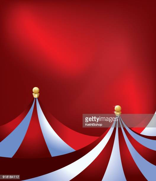 circus tent background - big top - fairground stock illustrations