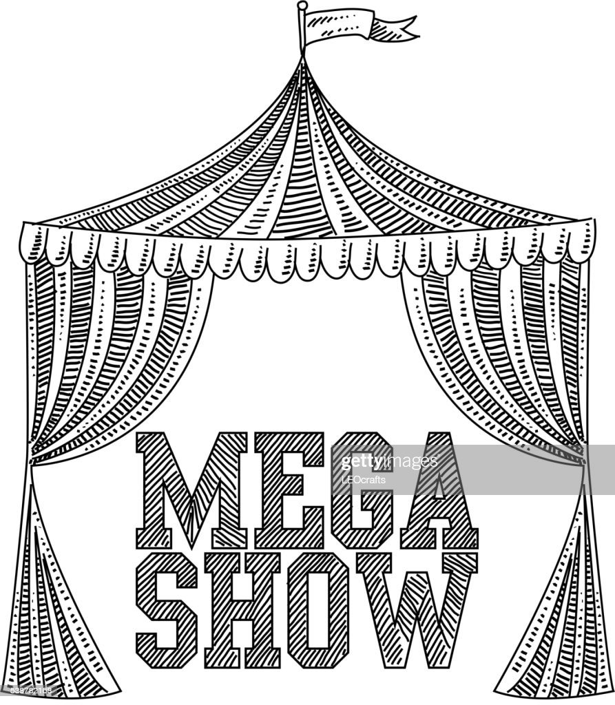 Circus tent Drawing  Vector Art  sc 1 st  Getty Images & Circus Tent Drawing Vector Art | Getty Images