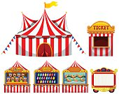 Circus tent  game boothes