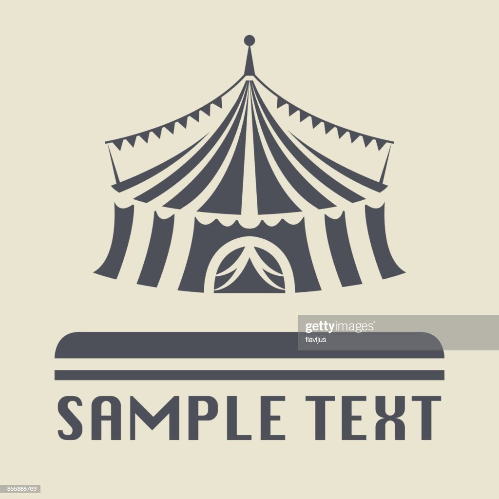 Circus tent icon or sign