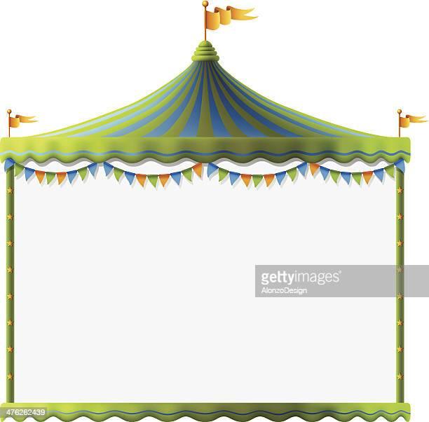 illustrations, cliparts, dessins animés et icônes de signe de chapiteau de cirque - chapiteau de cirque