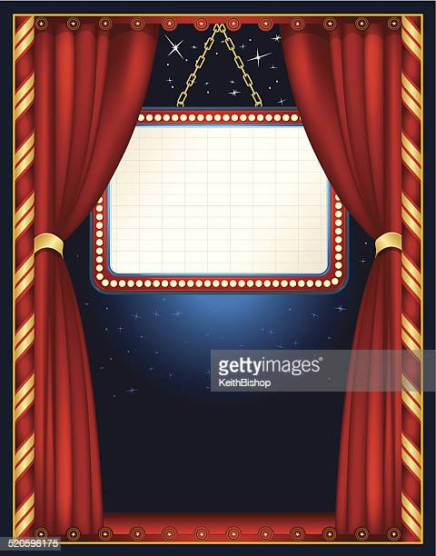 circus tent theater stage marquee background - stage light stock illustrations