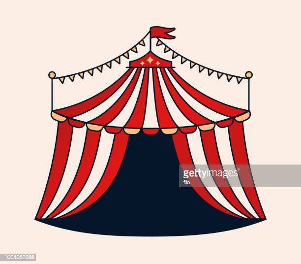 circus tent - tent stock illustrations, clip art, cartoons, & icons