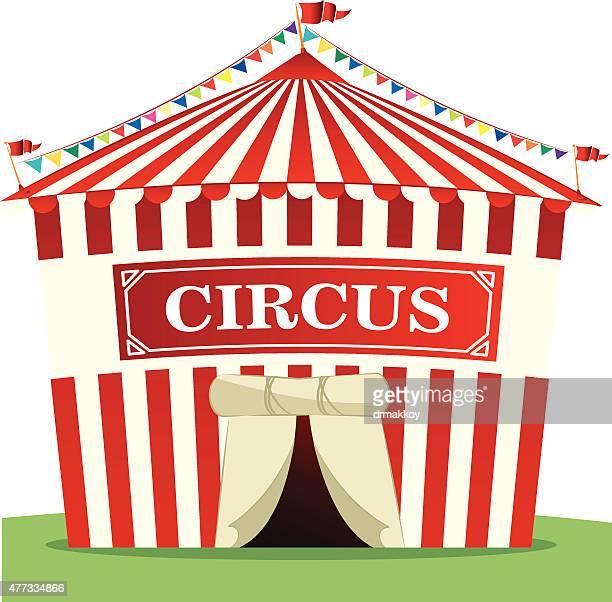 circus tent - circus tent stock illustrations, clip art, cartoons, & icons