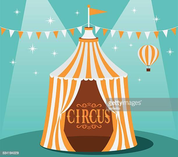 ilustraciones, imágenes clip art, dibujos animados e iconos de stock de carpa de circo - carpa de circo