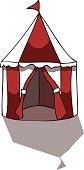 Circus Tent Vector Illustration.