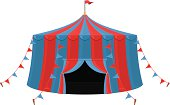 Circus tent vectored graphic