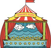 Circus Tent With Duck Shooting Gallery