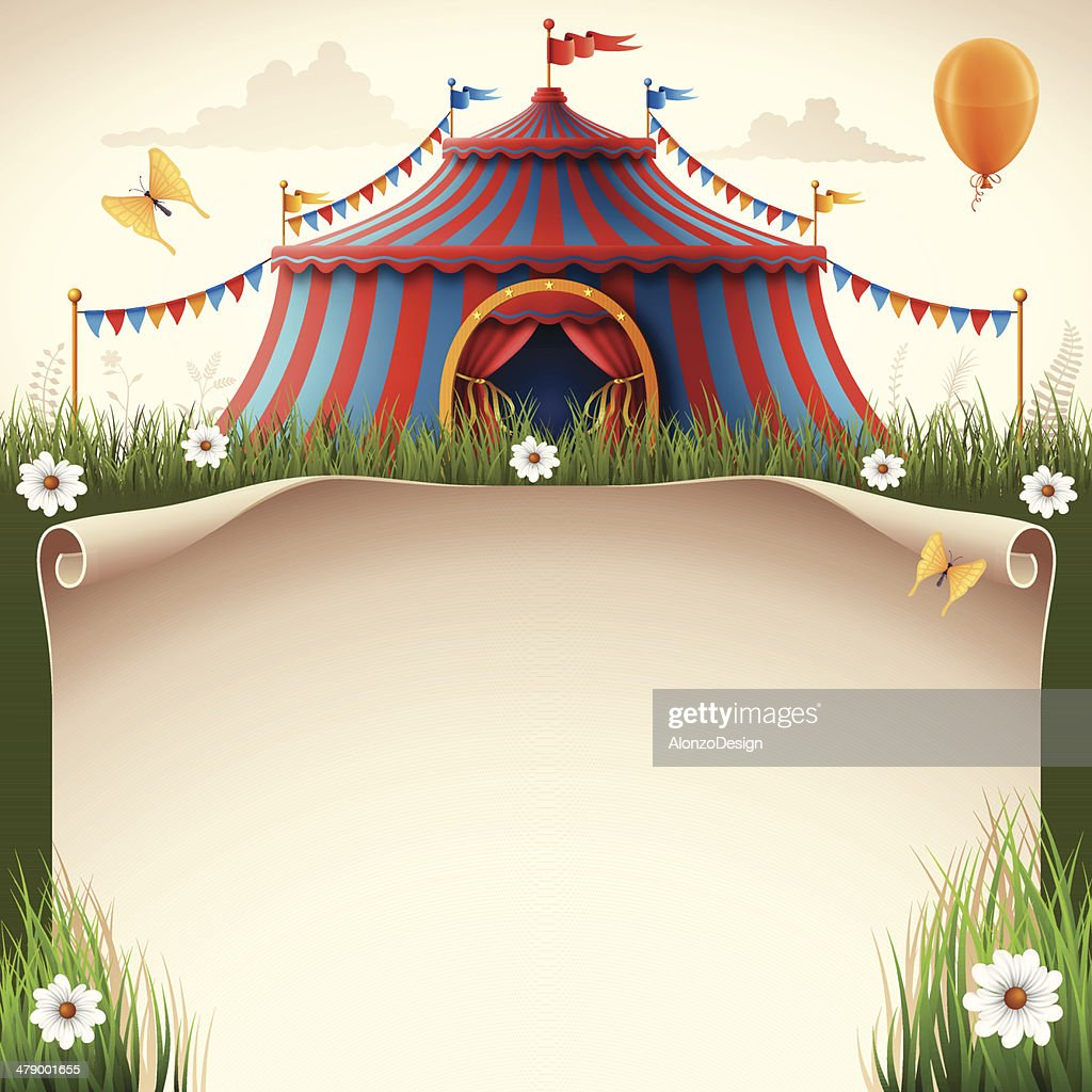 Circus Tent with Scroll