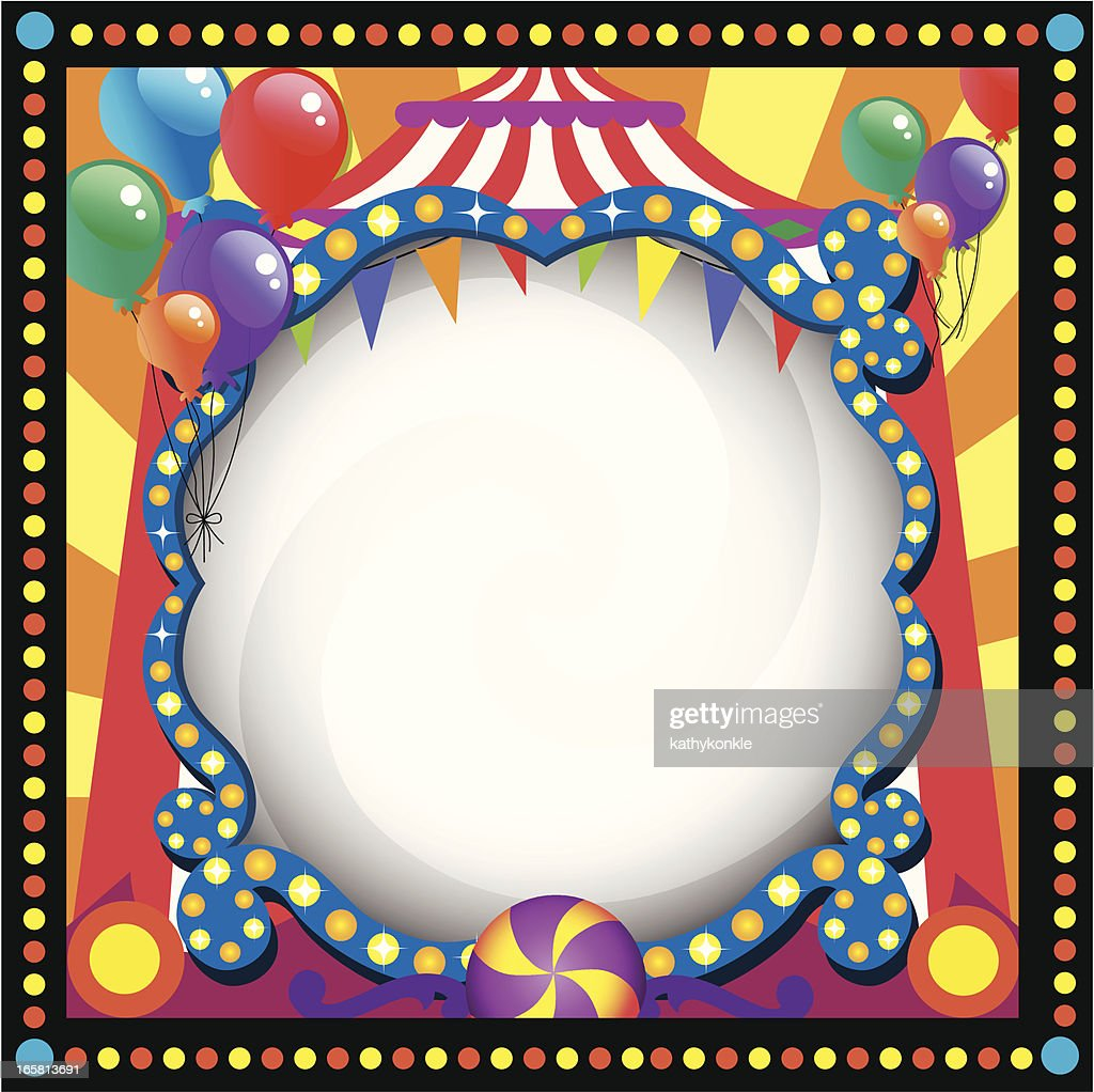 Circus Theme Blank Frame Vector Art | Getty Images