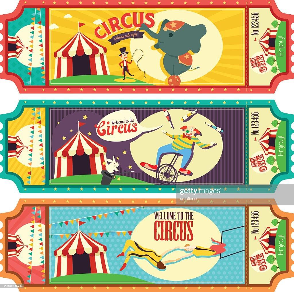 Circus Ticket Design