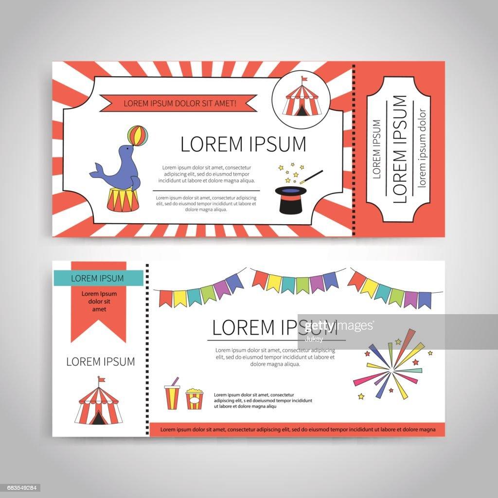 Circus tickets design