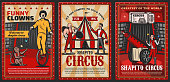 Circus top tent arena with marquee performers