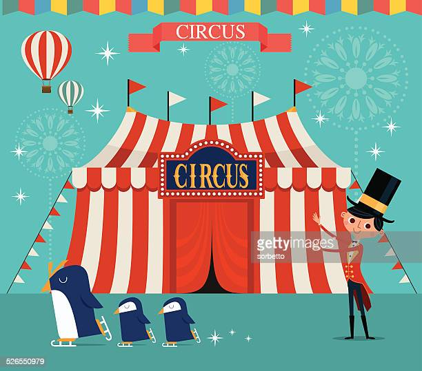 illustrations, cliparts, dessins animés et icônes de circus - chapiteau de cirque