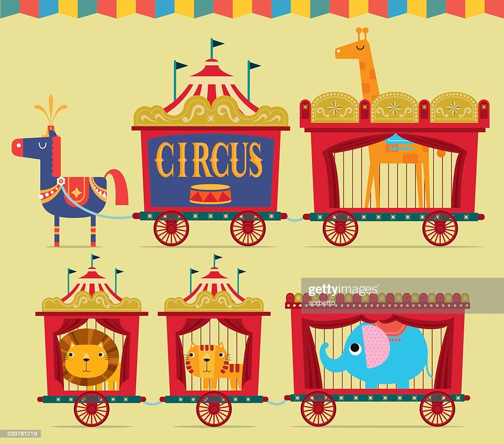 Circo Wagon : Illustrazione stock