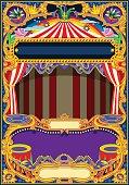 Circus Wallpaper Vector Frame