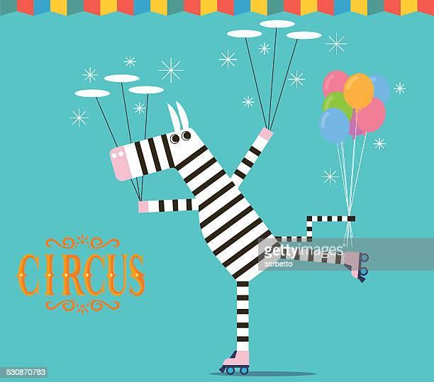 Circus Zebra juggling