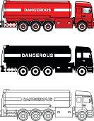 Cistern trucks carrying chemical, radioactive, toxic, hazardous substances