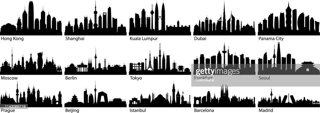 Cities (All Buildings Are Complete and Moveable) : stock illustration