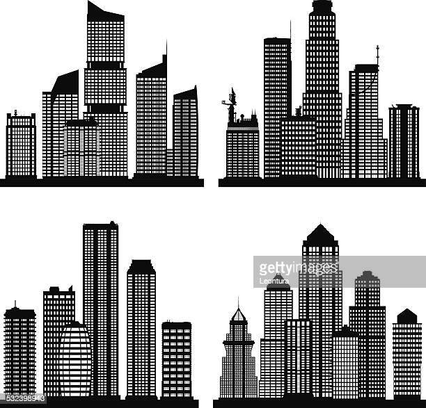 cities (complete buildings can be moved) - generic description stock illustrations, clip art, cartoons, & icons