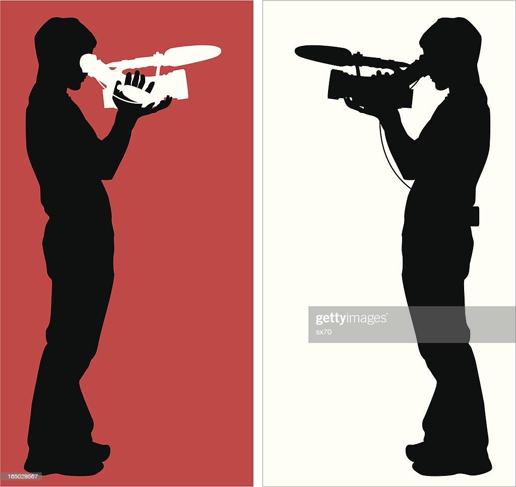Citizen Journalist or Film Student ( Vector ) : stock illustration