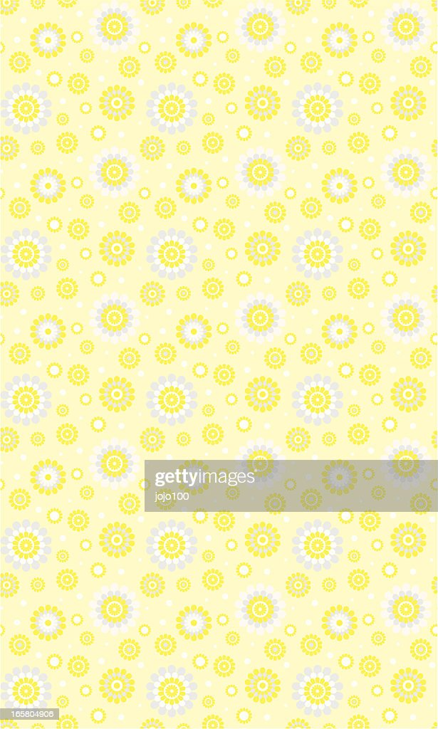 Citrus Floral Seamless Repeat Pattern