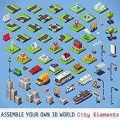 City 01 COMPLETE Set Isometric