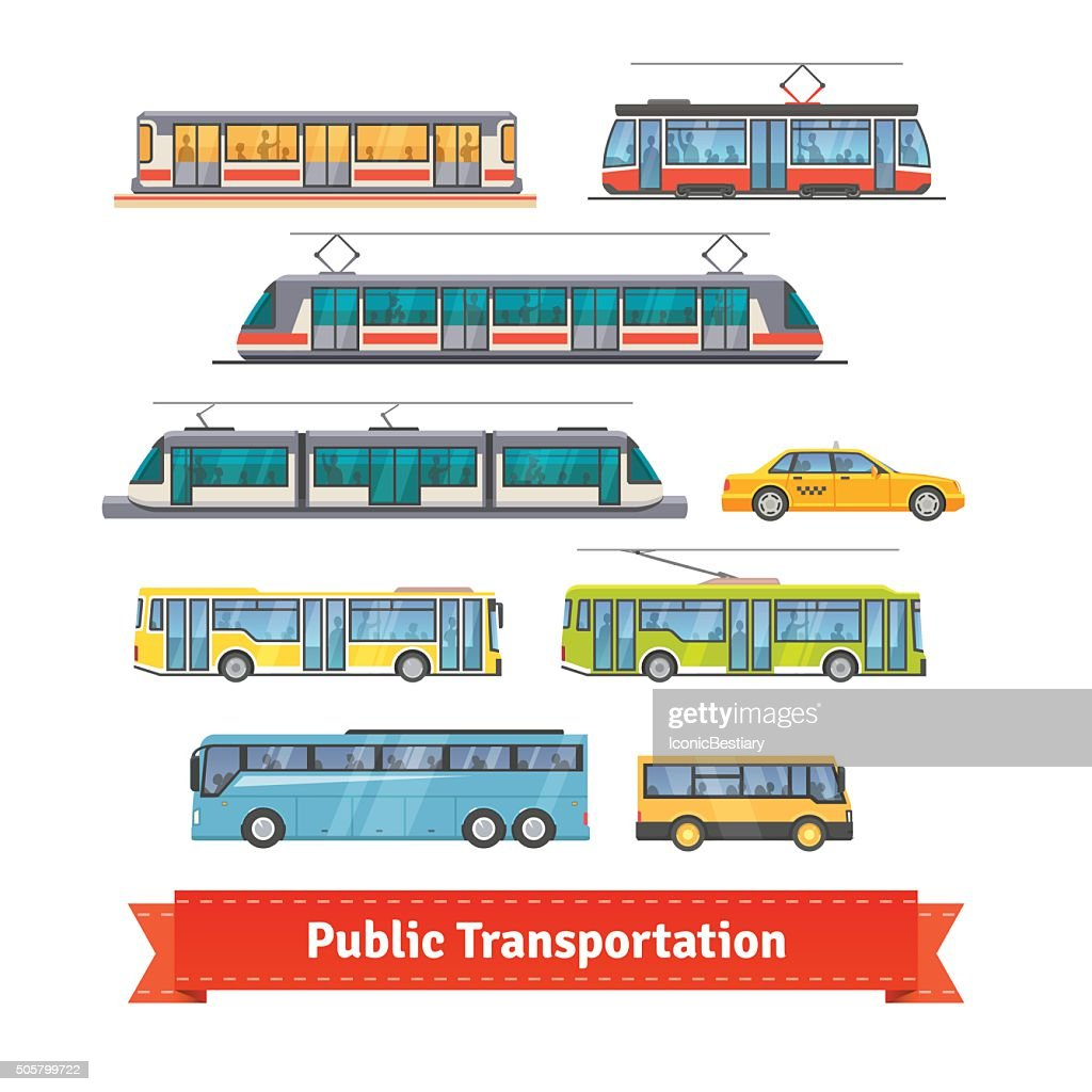 City and intercity transportation vehicles set