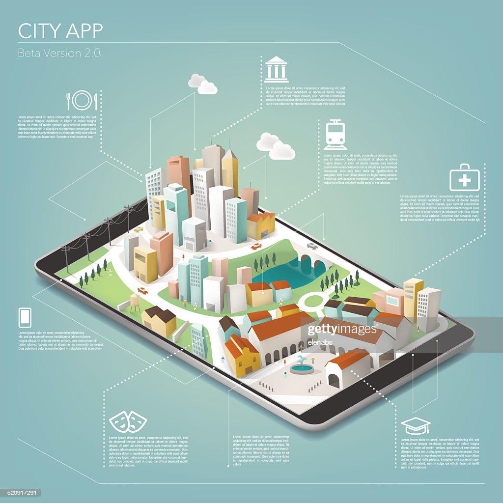 City app on tablet
