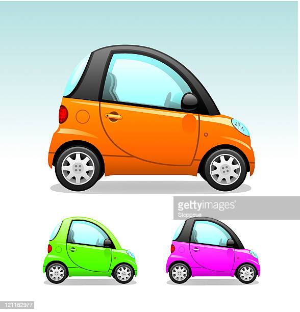 city сar - compact car stock illustrations, clip art, cartoons, & icons