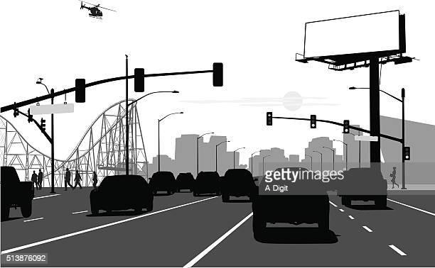 city arteries - suv stock illustrations, clip art, cartoons, & icons