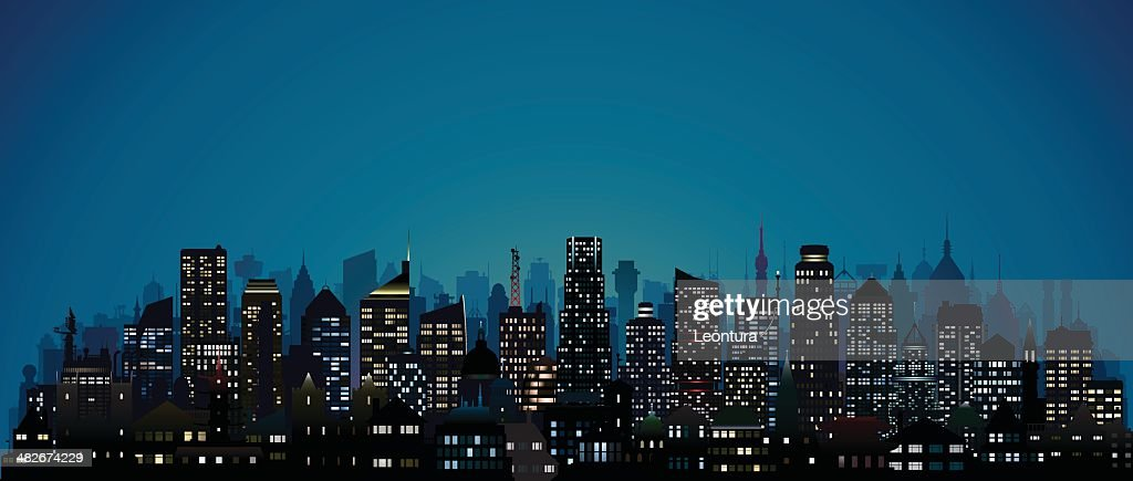 City at Night (123 Highly Detailed Buildings)