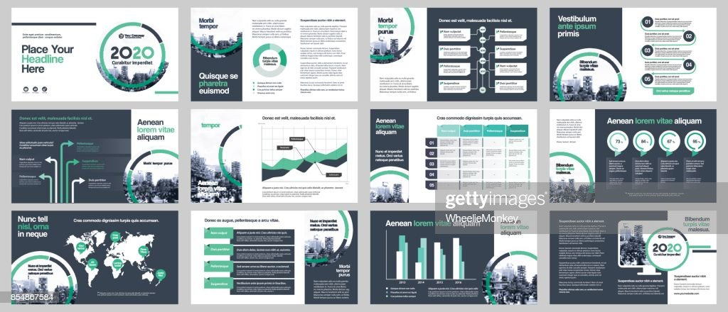 City Background Business Company Presentation with Infographics Template.
