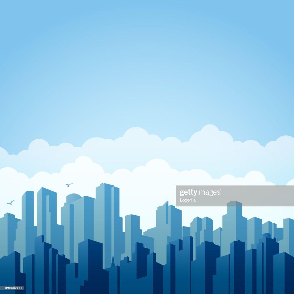 City background : stock illustration