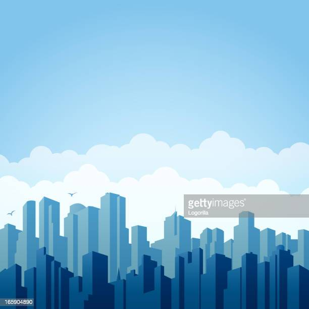 city background - skyscraper stock illustrations