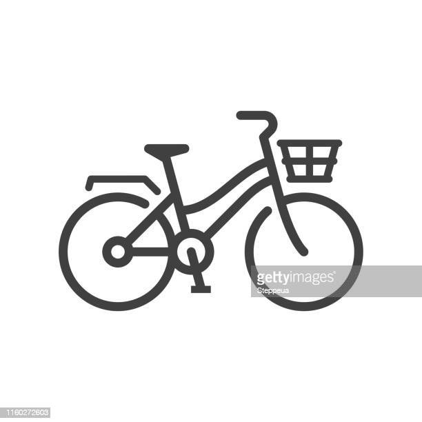 city bike icon - riding stock illustrations