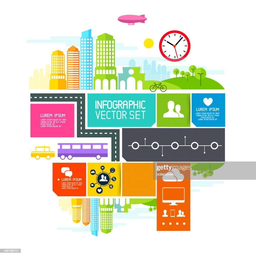 City Blocks  - Vector illustration