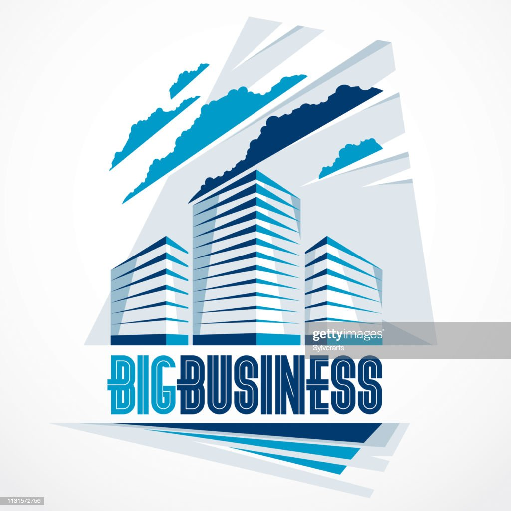 City building business financial office vector design. Futuristic architecture illustration. Real estate realty office center design. 3D futuristic facade in big city. Can be used as icon.