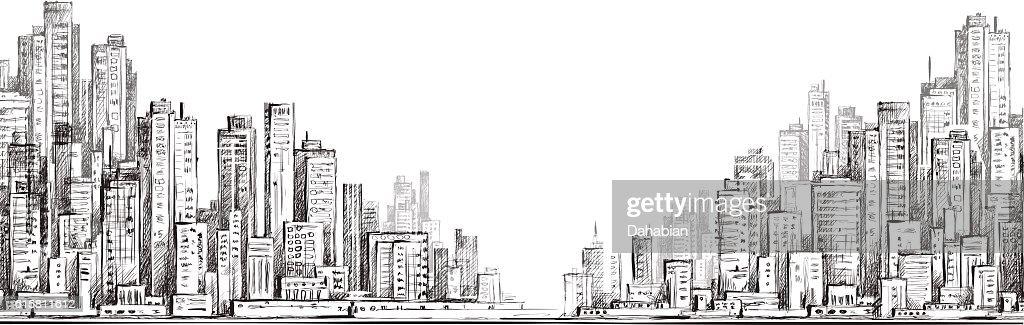 City  building illustraion