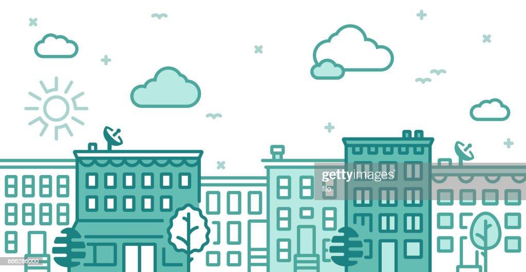 City Building Lines : stock illustration